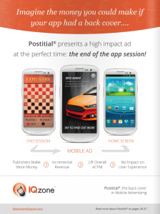 IQzone on the back cover of Mobile Marketing Magazine, Sept. 2013 Issue